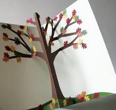 pop up tree cornerstonelae autumn tree pop up book autumn