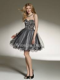 sequin embroidery short mini natural sweetheart strapless black a