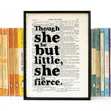 nurse quote gifts little but fierce u0027 literary quote gift for her print by bookishly