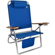 Rio Sand Chair Titan Big Fish Hi Seat Aluminum Folding Beach Chair Blue High