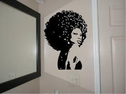 Vinyl Wall Stickers Custom Beautiful Afro Chic Women Housewares Wall Decal Afro Decal