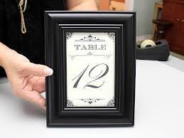 Table Numbers Wedding 15 Minute Diy Wedding Table Numbers