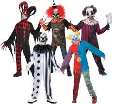 scary clowns boys fancy dress halloween horror joker circus kids