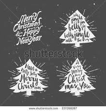 retro vintage merry christmas background greeting stock vector