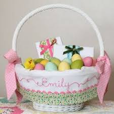 easter basket liners personalized personalized easter basket liner pink and green gingham easter