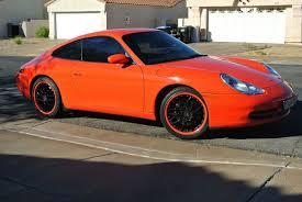 orange porsche 911 1999 porsche 911