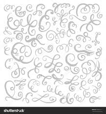 silver and white invitations silver hand drawn vintage swirls design stock illustration
