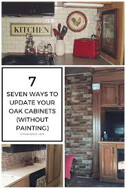 modernize kitchen cabinets 7 ideas for updating wood cabinets without painting them rv