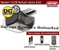 Overhead Door Garage Remote Genie 1028 2tx Reliag Dc Belt Garage Door Opener 8 Rail