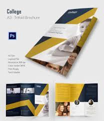 tri fold school brochure template college brochure template fourthwall co