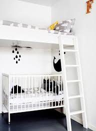 Cot Bunk Beds Monochrome Bedroom White Bunk Beds Bedroom Boys And White