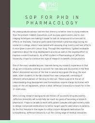 Statement Of Purpose Essay Sample Best Phd In Pharmacology Statement Of Purpose Writing Phd