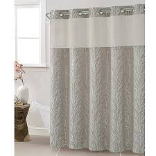 Hookless Shower Curtain Hookless Jacquard Tree Branch Shower Curtain In Taupe Bed Bath