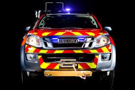 isuzu dmax lifted isuzu d max adatto per la dimostrazione del corpo dei pompieri al