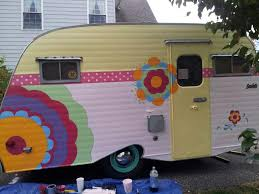 this adorable vintage camper has been featured in a series of