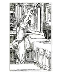 drawing vintage woman lamp vintage coloring pages for adults