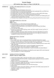 operations data analyst resume samples velvet jobs