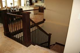 Kitchen Stairs Design Open Staircase Railing Modern Stairway Between Kitchen And Living