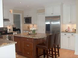 White Stained Wood Kitchen Cabinets White Kitchen Cabinets With Stained Wood Trim Home White Kitchen
