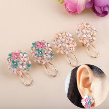 studs earrings lnrrabc gold leaf flower piercing ear studs earrings boucle women