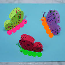 how to a 3d paper butterfly craft i crafty things