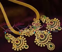 big size necklace images Nl9419 flat chain big peacock broad size pendant fashion jewellery JPG
