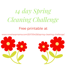 Springcleaning Spring Cleaning Challenge U2013 One Sharp Mama