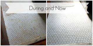 uncovering a hex tile floor before after decor adventures