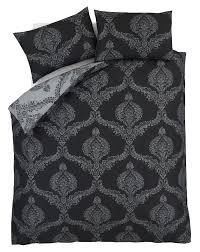 damask duvet quilt cover set bed linen double king size bedding