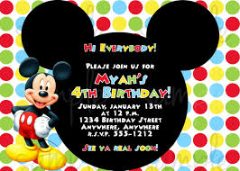 mickey mouse birthday invitations templates free amazing