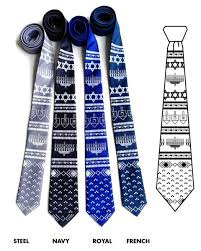 hanukkah tie hanukkah sweater silk necktie by cyberoptix