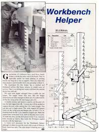making workbench helper workshop solutions plans tips and