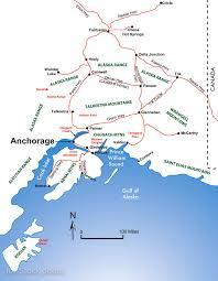 Eagle River Alaska Map by Backcountry Ski Zones Near Anchorage Alaska Including Turnagain