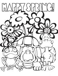 coloring pages to print spring 35 free printable spring coloring pages