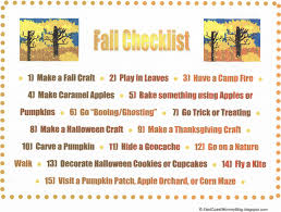 east coast mommy fall checklist with free printable