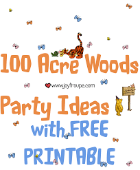 winnie pooh party ideas free printable plan party