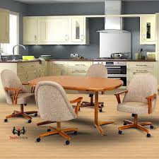 caster dinette sets dining table set with swivel caster dinette
