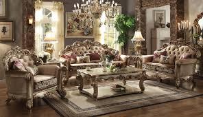 Brown Fabric Sofa Set 3 Piece Vendome Gold Patina Bone Fabric Sofa Set Usa Furniture