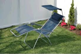 camping station wide gravity free reclining chair with shade