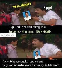 Pegging Meme - as schools reopen after 2 weeks hilarious memes show how chennai