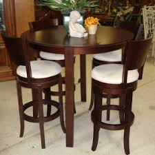 Country Style Bistro Design With Espresso Finish Counter Height - High top kitchen table