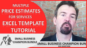 Pricing Spreadsheet Template Quote Excel Template Multiple Price Estimates For Services