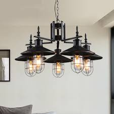 Pendant Lighting Industrial North Europe American Pastoral Style Pendant Lights Black Iron