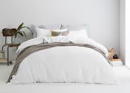 brisa 100 soft washed linen bed set white made com