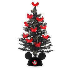 miniature santa mickey mouse christmas tree with mailer disney ebay