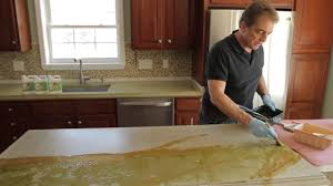 light colored concrete countertops how to stain concrete countertops with z aqua tint youtube