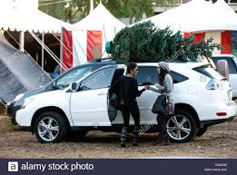 suv lexus white halle berry buys a christmas tree in west hollywood and attaches