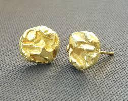 18k gold earrings 18k gold earrings etsy