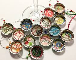 bunco bottlecap wine charms 4 bunco
