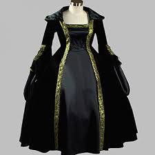 Victorian Dress Halloween Costume Gothic Victorian Dress Hooded Dress Long Halloween Costume Stage
